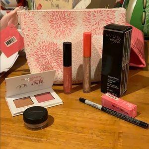 Makeup Bag & Mixed Cosmetics